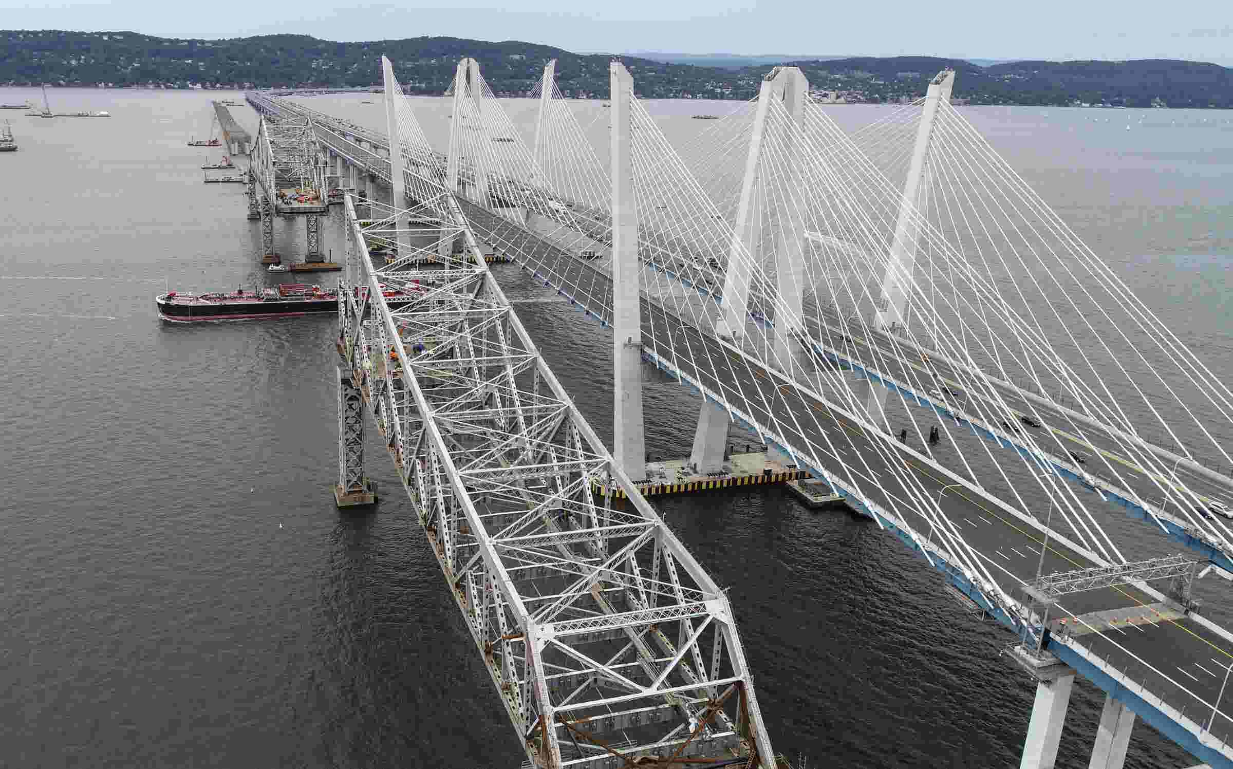 Video: Drone view of Tappan Zee and Cuomo bridges