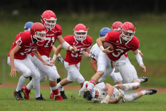 North Rockland defeats Mahopac 26-14 at North Rockland High School in Thiells on Saturday, September 8, 2018.