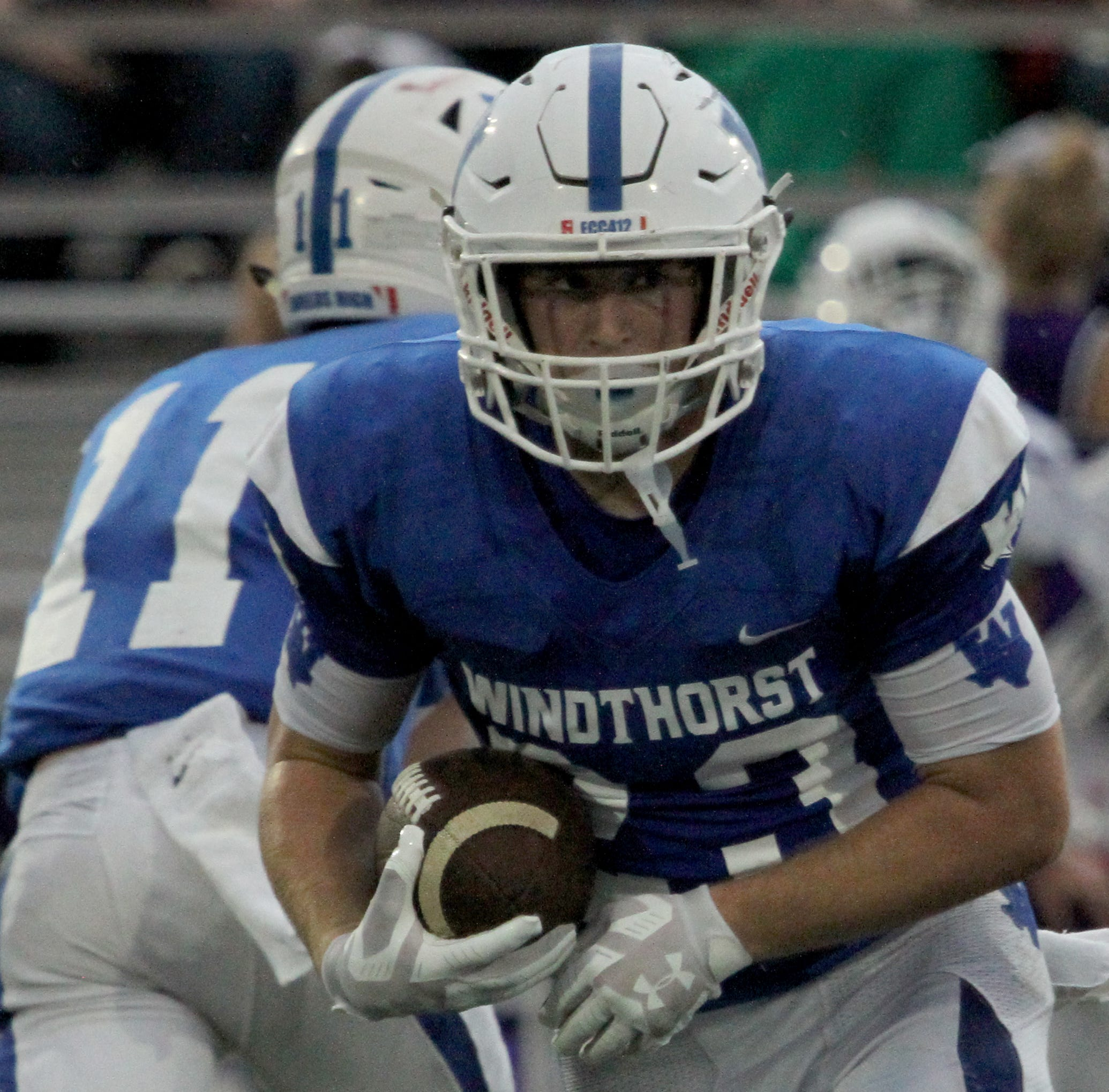 Class 2A Football Wrapup: Windthorst's Nathan Bales with 4-TD game for the ages