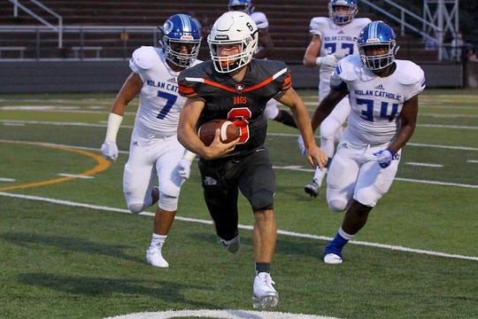 Burkburnett quarterback Mason Duke is a threat with his legs as much as he is with his arm.