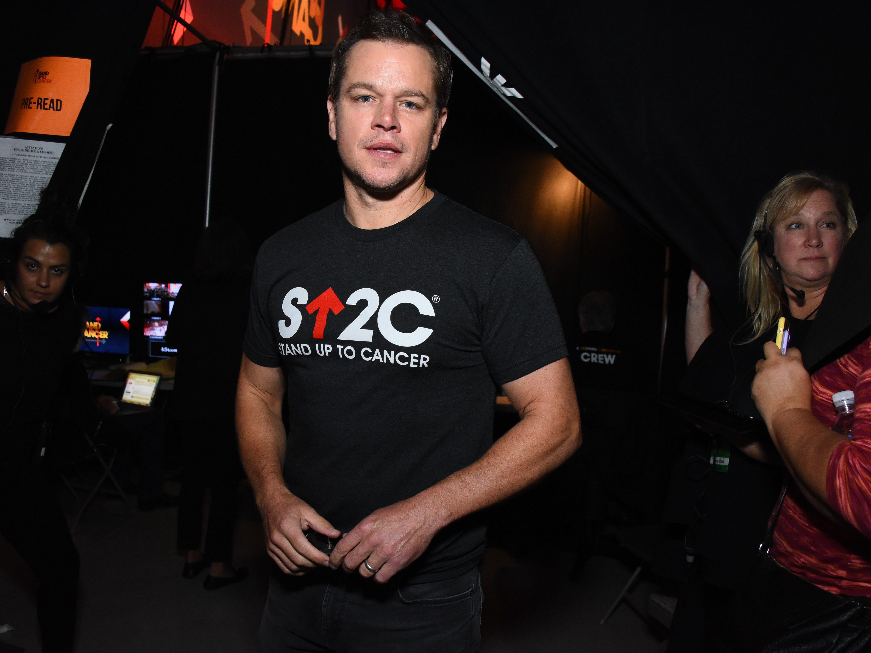 Matt Damon opened and closed the show.