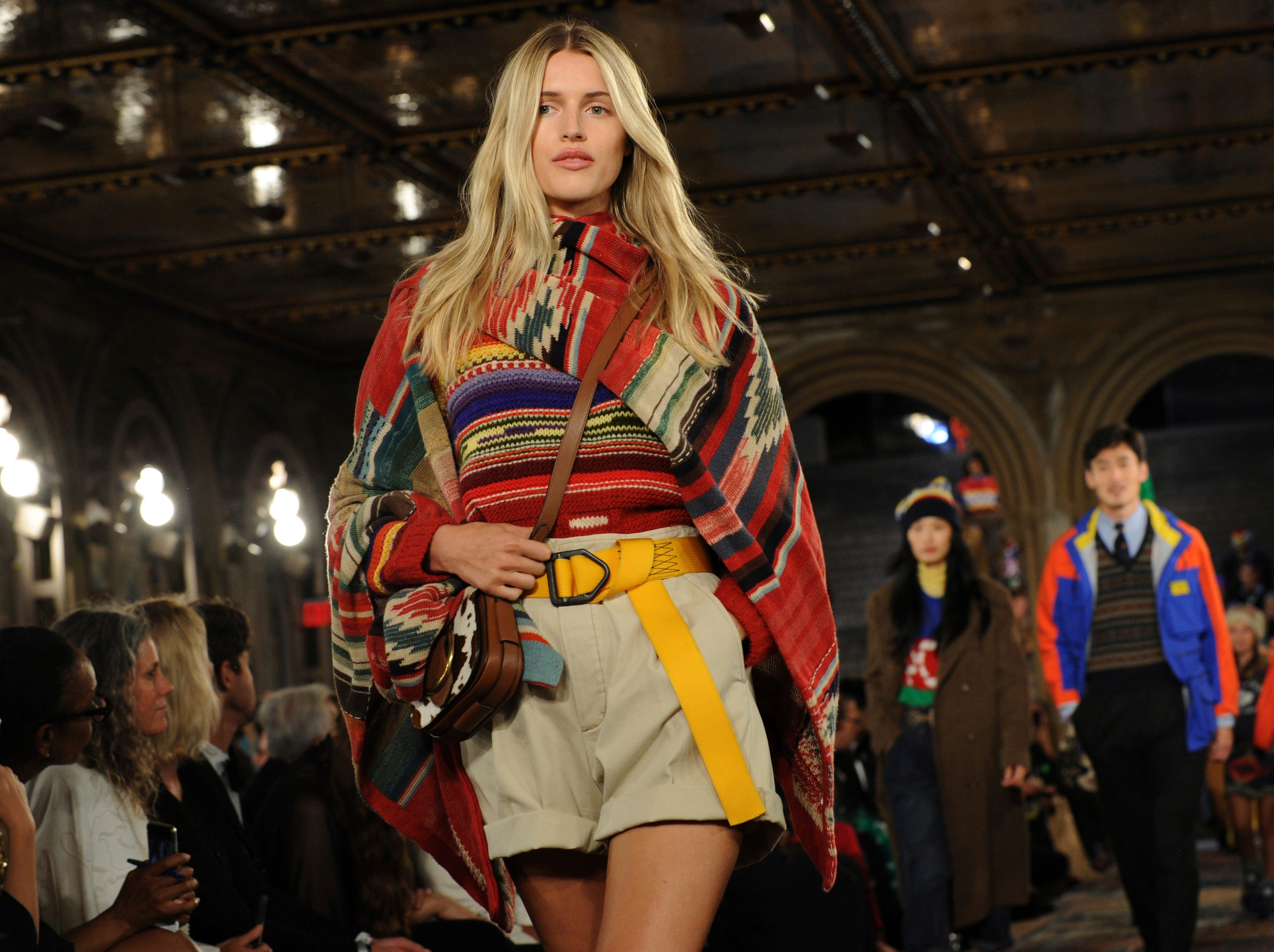 Models walk the runway at the Ralph Lauren 50th Anniversary Fashion Show during New York Fashion Week, Friday, Sept. 7, 2018. (AP Photo/Diane Bondareff) ORG XMIT: NYDB135