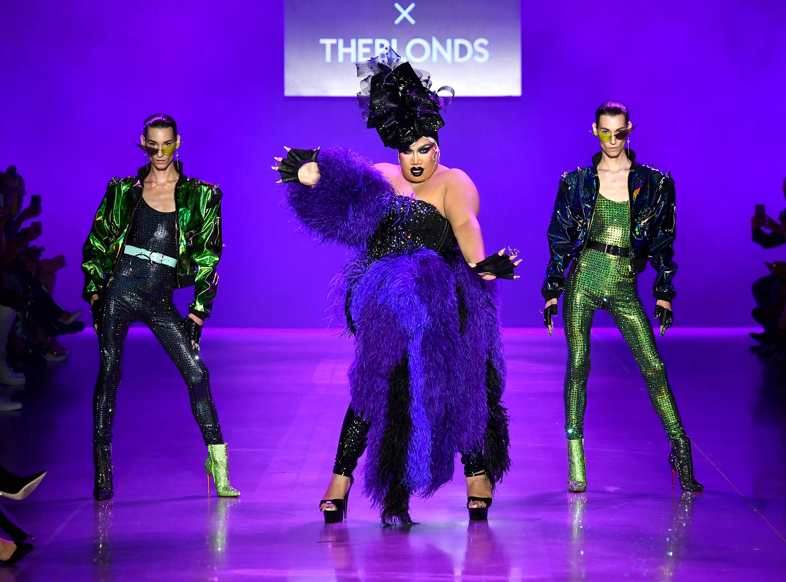 NEW YORK, NY - SEPTEMBER 07:  Models walk the runway at the Disney Villains x The Blonds NYFW Show during New York Fashion Week: The Shows at Gallery I at Spring Studios on September 7, 2018 in New York City.  (Photo by Frazer Harrison/Getty Images for Disney) ORG XMIT: 775216302 ORIG FILE ID: 1028922576