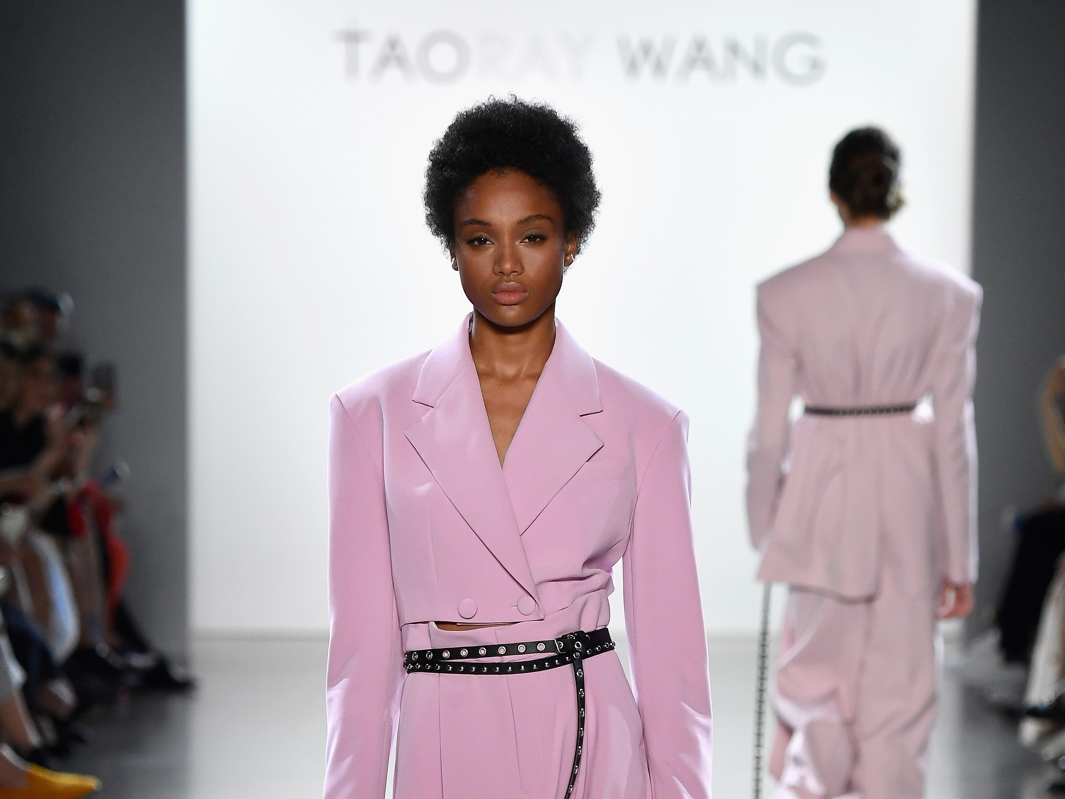 The Taoray Wang kept the colors solid and simple with one distinct theme throughout the show: belts!