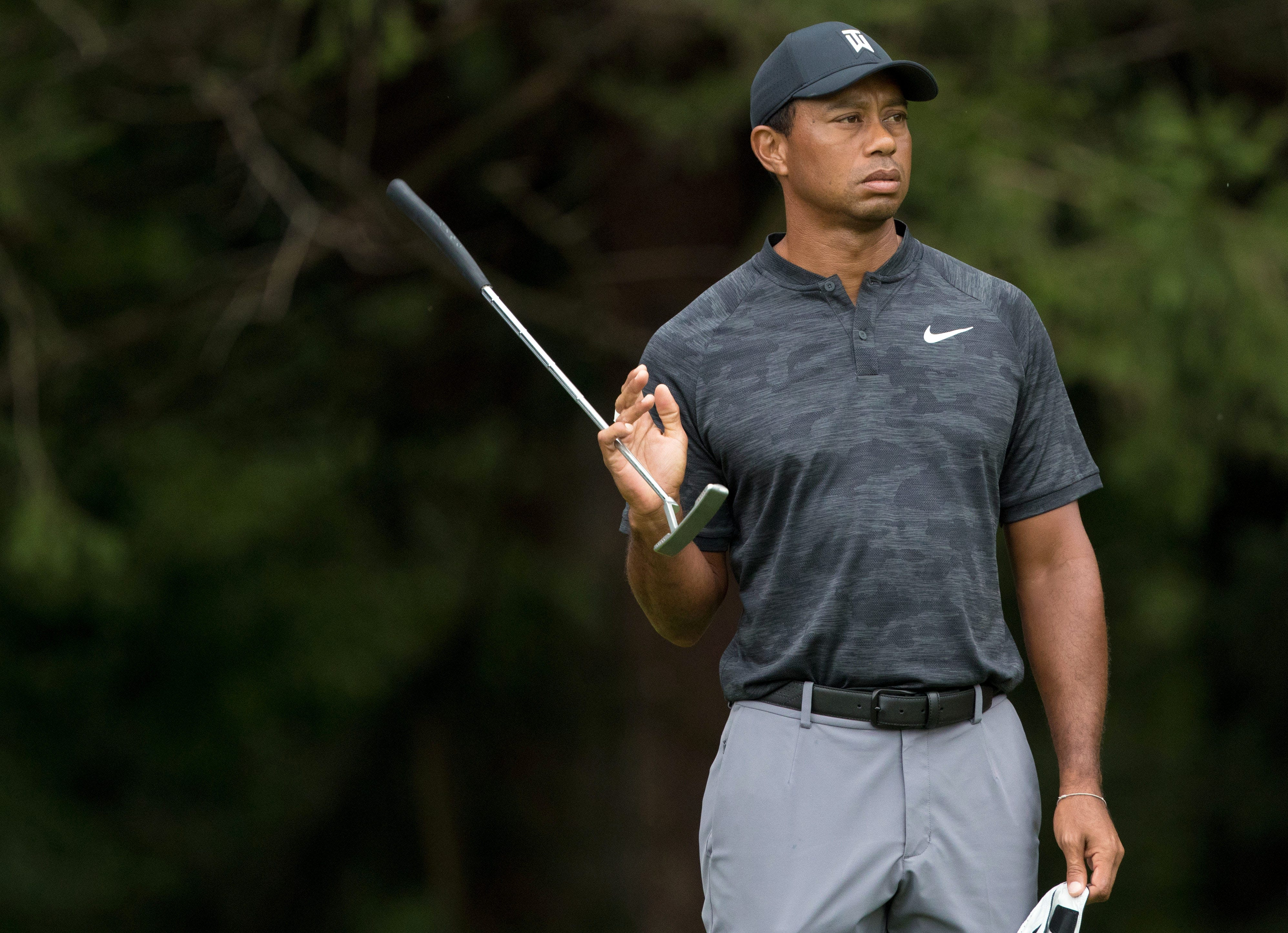 tiger woods unhappy with play at bmw championship  despite