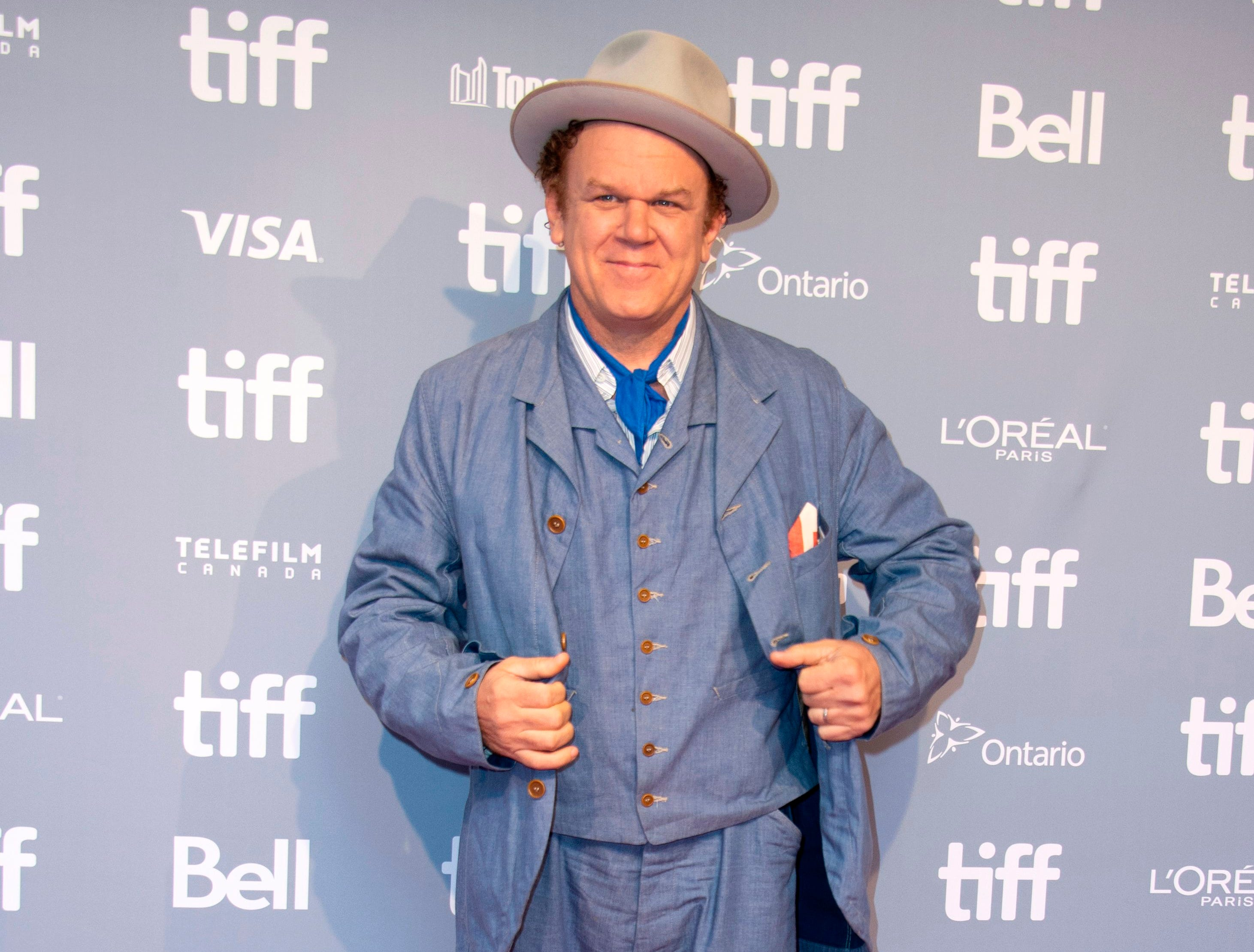 "Actor John C. Reilly attends the Press conference for ""The Sisters Brothers"" during the Toronto International Film Festival, on September 8, 2018, in Toronto, Ontario, Canada. (Photo by VALERIE MACON / AFP)VALERIE MACON/AFP/Getty Images ORG XMIT: Toronto i ORIG FILE ID: AFP_18Y40N"