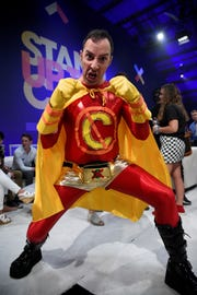 "Tony Hale brings the superhero to ""Stand Up to Cancer."""