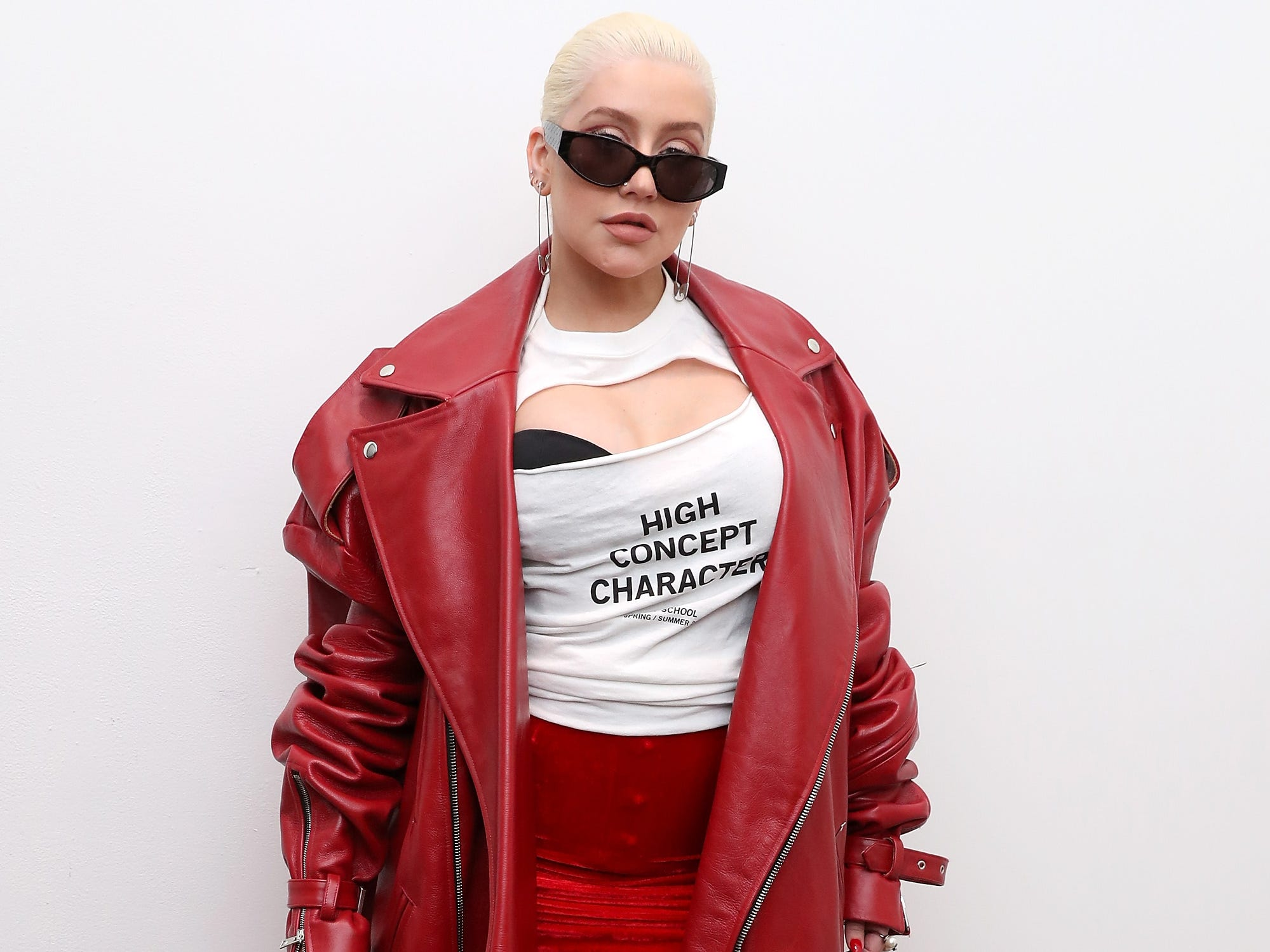 NEW YORK, NY - SEPTEMBER 08:  Christina Aguilera posese backstage at the Christian Cowan Show during New York Fashion Week at Gallery II at Spring Studios on September 8, 2018 in New York City.  (Photo by Cindy Ord/Getty Images for Christian Cowan) ORG XMIT: 775216452 ORIG FILE ID: 1029388604