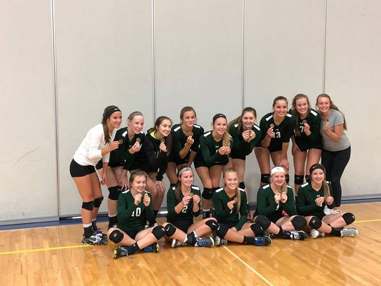 The Laconia girls volleyball team took first place at the Dodgeland Tournament on Saturday.