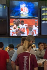 9/09/18   The opening weekend of the NFL season and patrons utilize Sports Betting at Monmouth Park. Photo/James J. Connolly/Correspondent