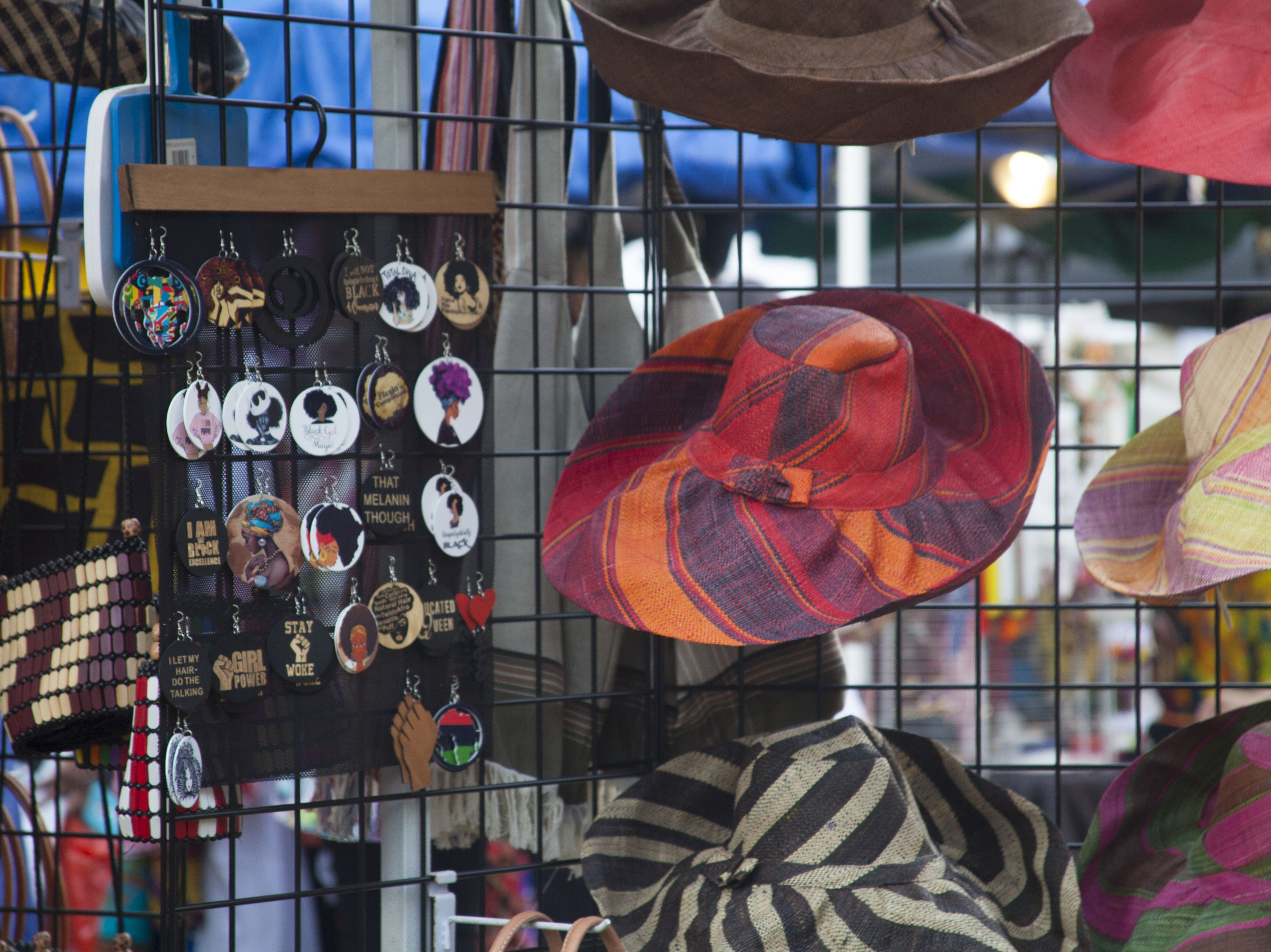 Items for sale at the 2018 Goombay Festival at the Roger McGuire Green in Pack Square Park on Sept. 8, 2018.