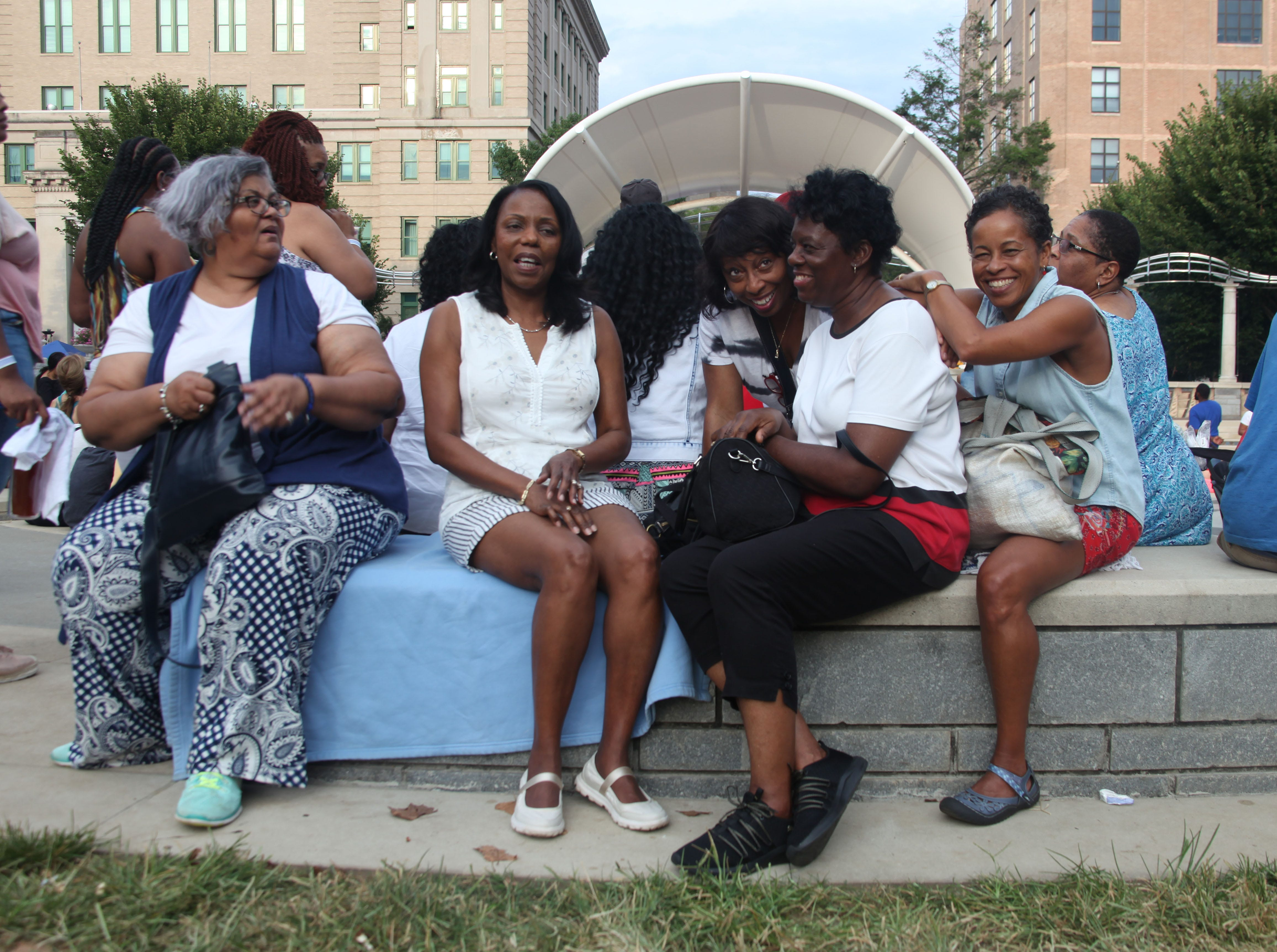 Attendees enjoy the 2018 Goombay Festival at the Roger McGuire Green in Pack Square Park on Sept. 8, 2018.