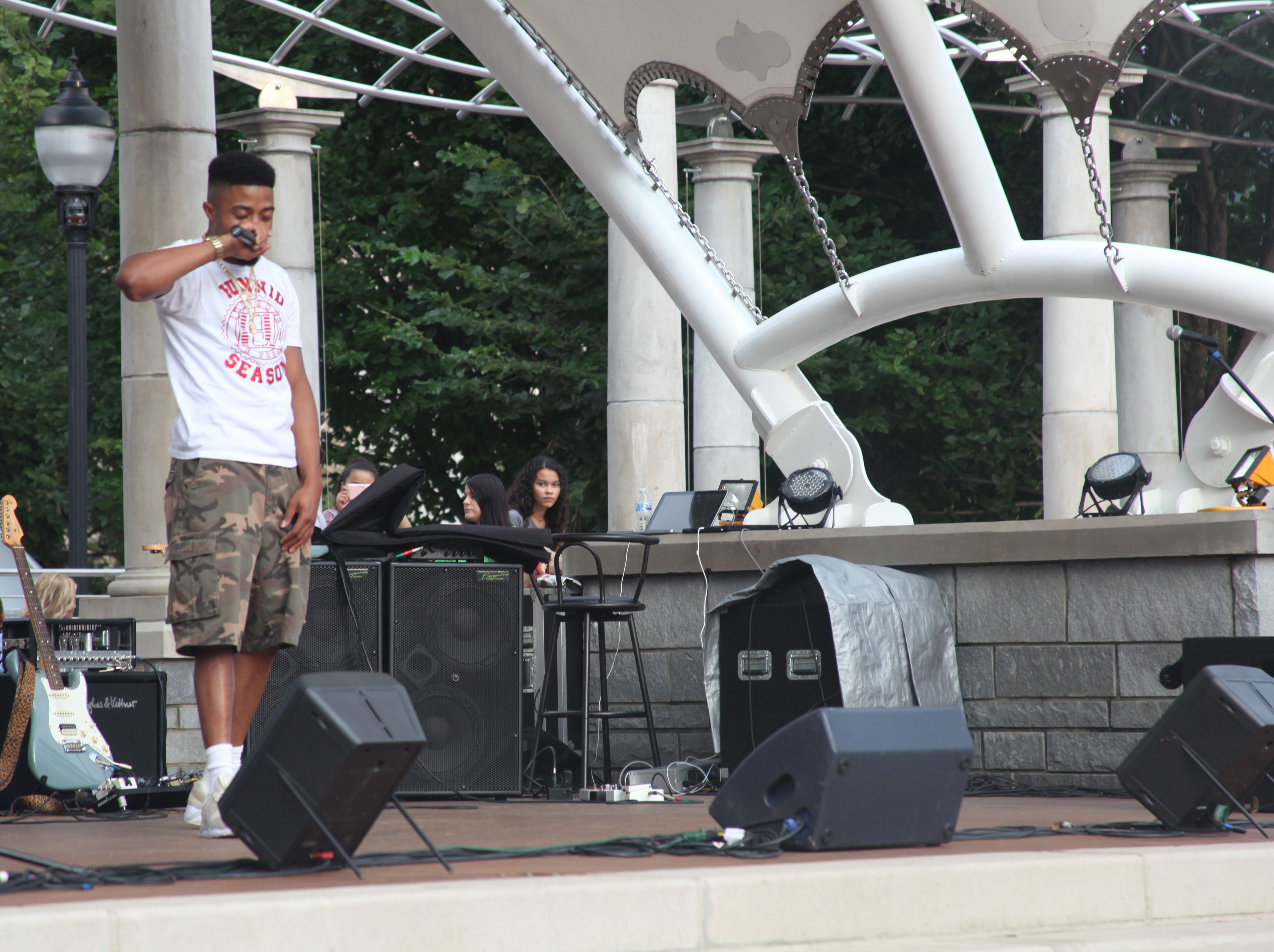 Teyg performs at the 2018 Goombay Festival at the Roger McGuire Green in Pack Square Park on Sept. 8, 2018.