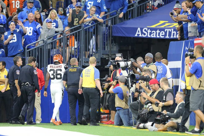 Bengals safety Shawn Williams' had an abbreviated stay in the team's season opener against the Colts as he was ejected from the game for a hit on Indianapolis quarterback Andrew Luck.