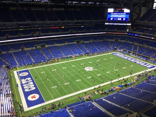 Pregame at Lucas Oil Stadium.