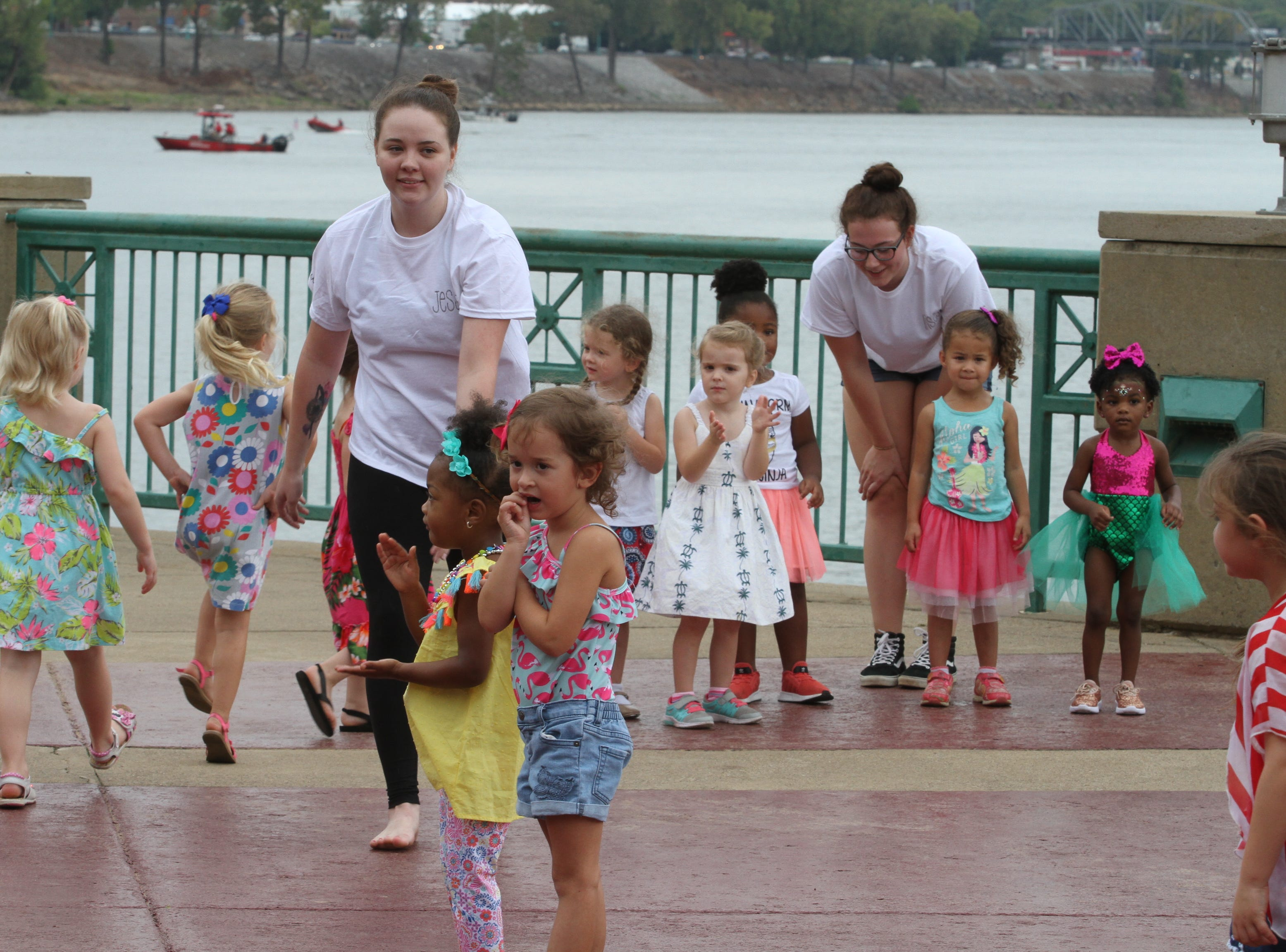 Rain curtailed activities and performances at Clarksville Riverfest on Saturday, Sept. 8, 2018