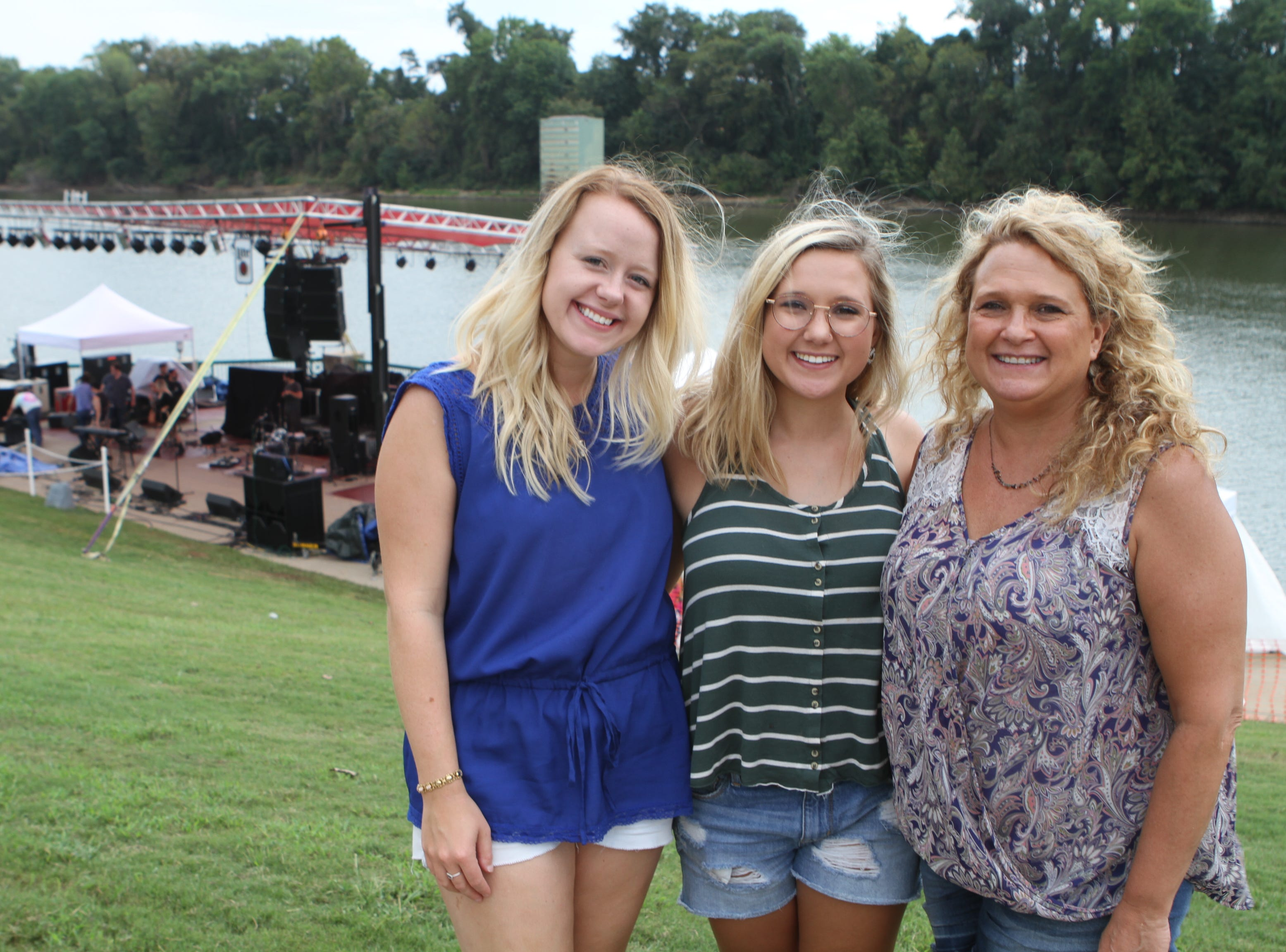 Kelsey Munday, Kara Vaughn and Cindy Rye at Clarksville Riverfest on Saturday, Sept. 8, 2018.