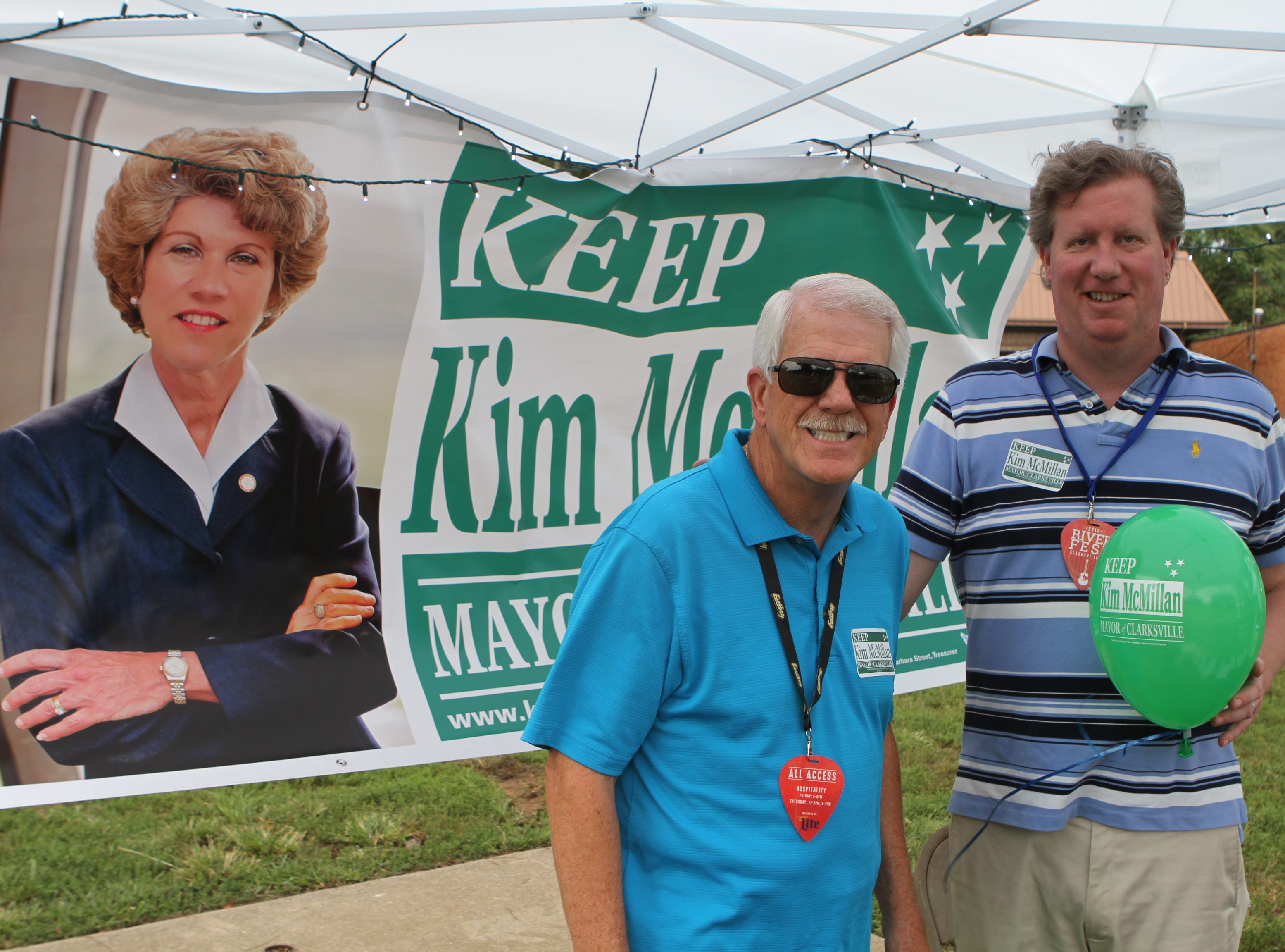 Geno Grubbs and Steve Stroman at Clarksville Riverfest on Saturday, Sept. 8, 2018.