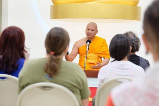 Venerable Pasura Dantamano shared his insight on inner peace at Dhammakaya International Meditation Center in Fanwood.