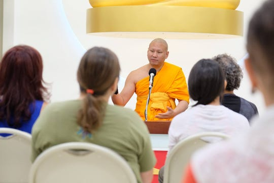 Venerable Pasura Dantamano shared his insight on inner peace at Dhammakaya International Meditation Center in Fanwood.
