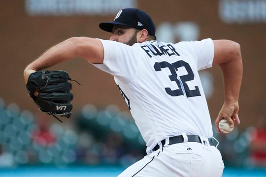 Tigers pitcher Michael Fulmer pitches in the first inning on Sunday, Sept. 9, 2018, at Comerica Park.