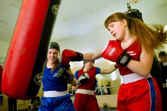 Young Russian Women Boxers Hit A Punch B