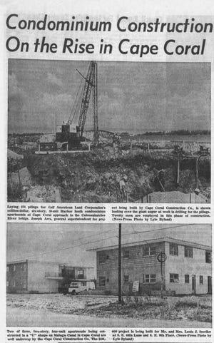 Cape Coral construction was bustling in the mid-1960s, featured here in The News-Press on July 25, 1965. At the time, Cape Coral boasted 5,000 residents.