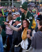 Fans at the Steve Miller Band concert Sept. 8, 2018 outside Lambeau Field. The event kicked off the start of the Green Bay Packers' 100th season.