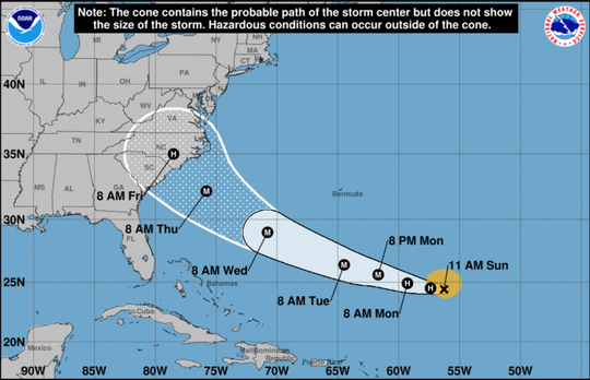 Florence has been classified as a hurricane again