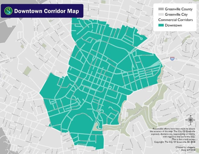 The parameters of the downtown master plan.