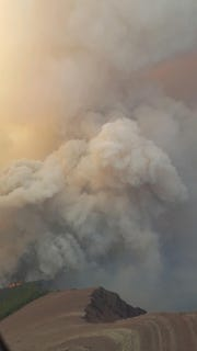 Air attack over the boundary fire on Sept. 7.