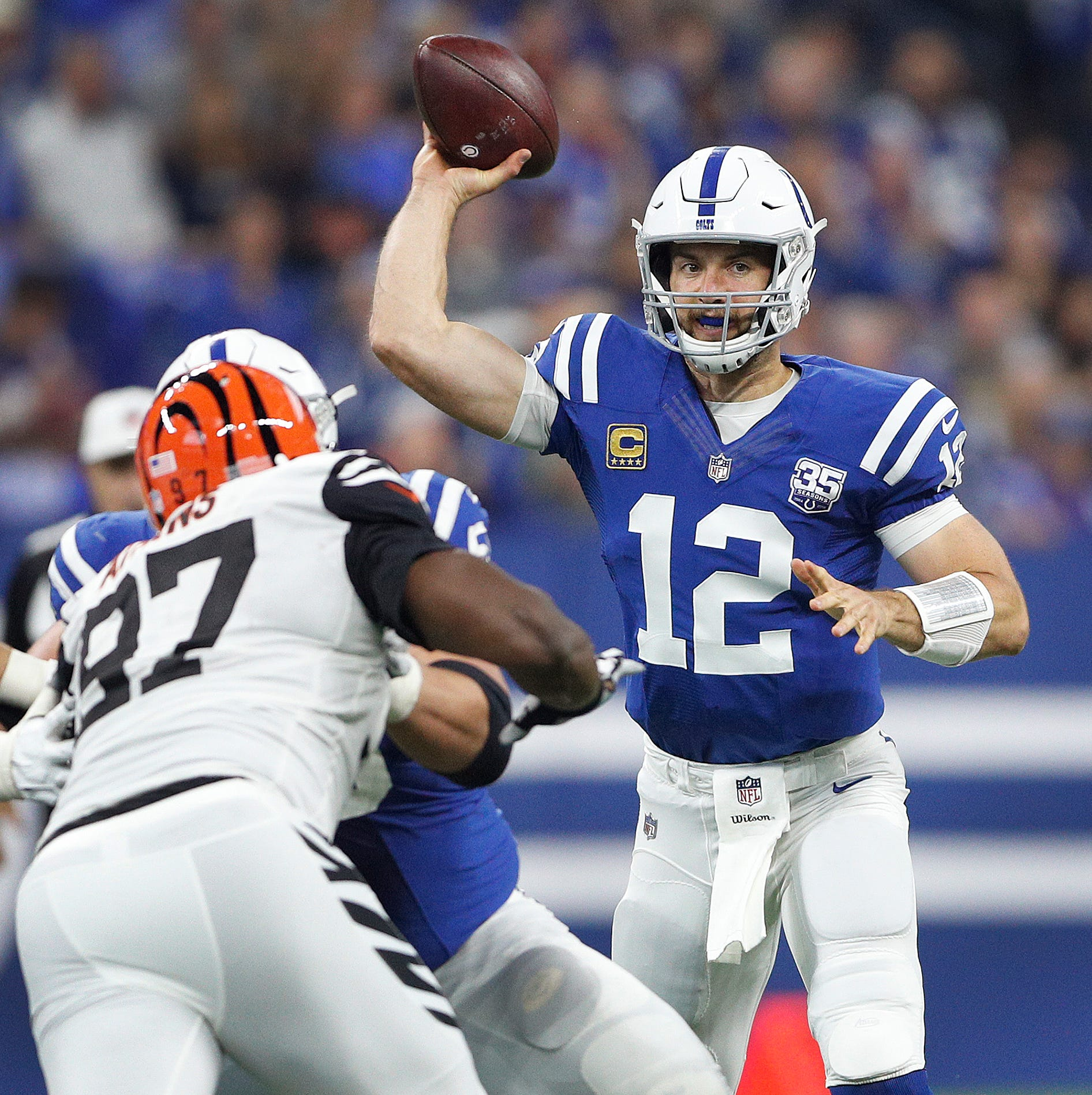 Cincinnati Bengals player fined $10,026 for hit on Indianapolis Colts QB Andrew Luck