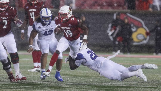 Hassan Hall made an impact in Louisville's game vs. Indiana State.