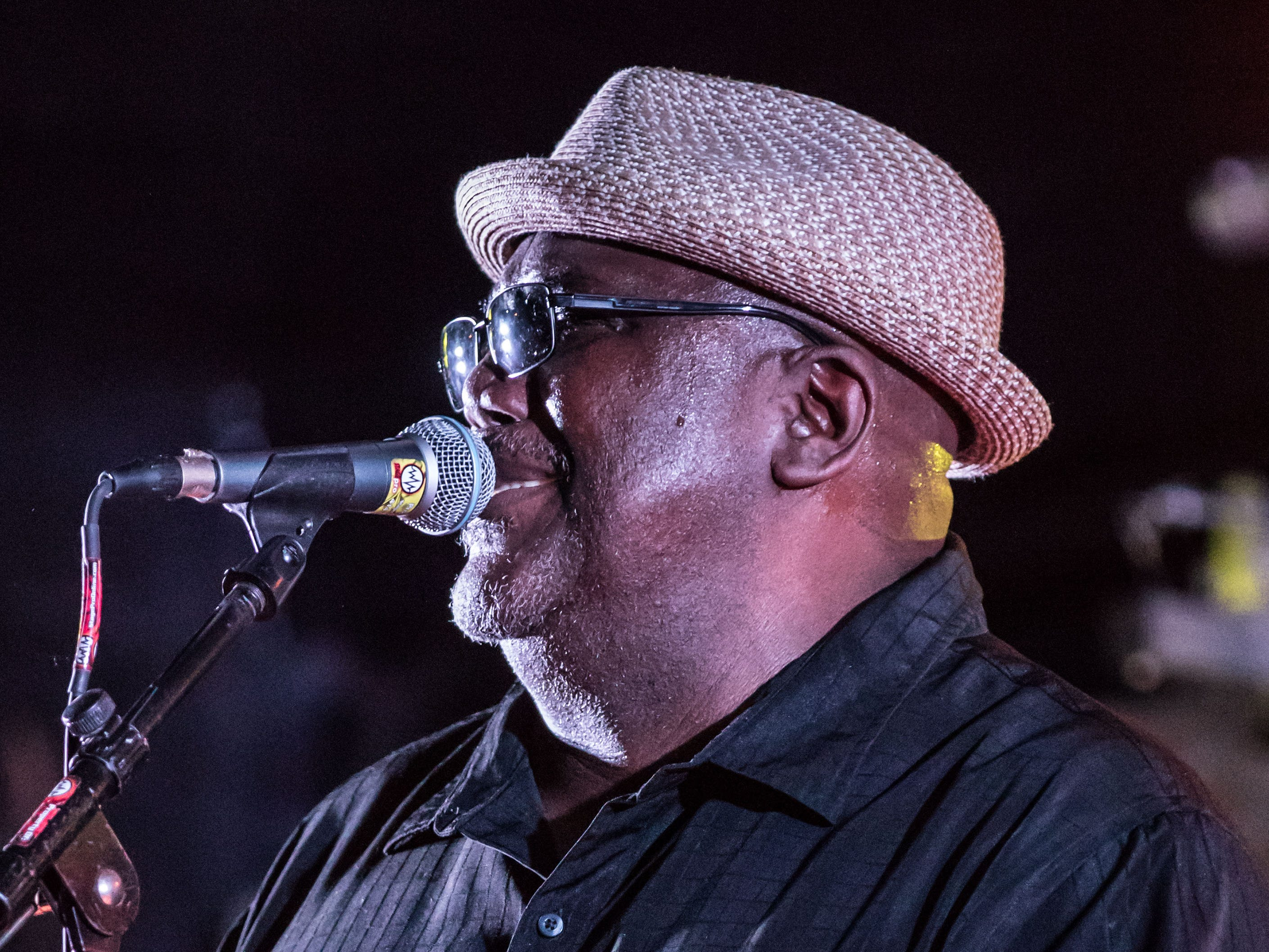 Vocalist Jeff Taylor of the Altered Five blues band performs on the Meijer stage during TosaFest 2018 at Hart Park in Wauwatosa on Friday, Sept. 7. The free two-day event features live music, food, kids activities and more.