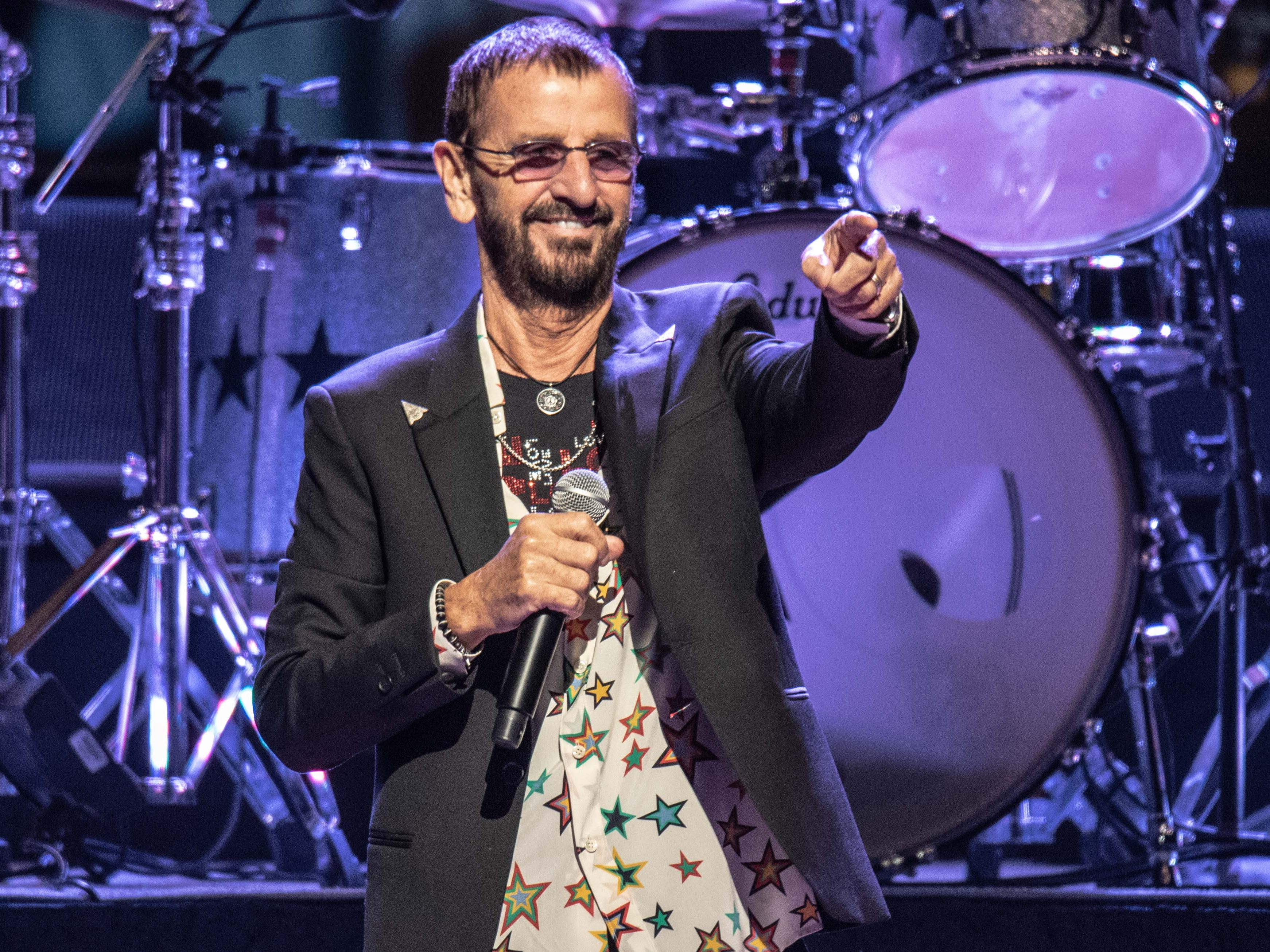Ringo Starr and His All Starr Band performs at the BMO Harris Pavilion Saturday.