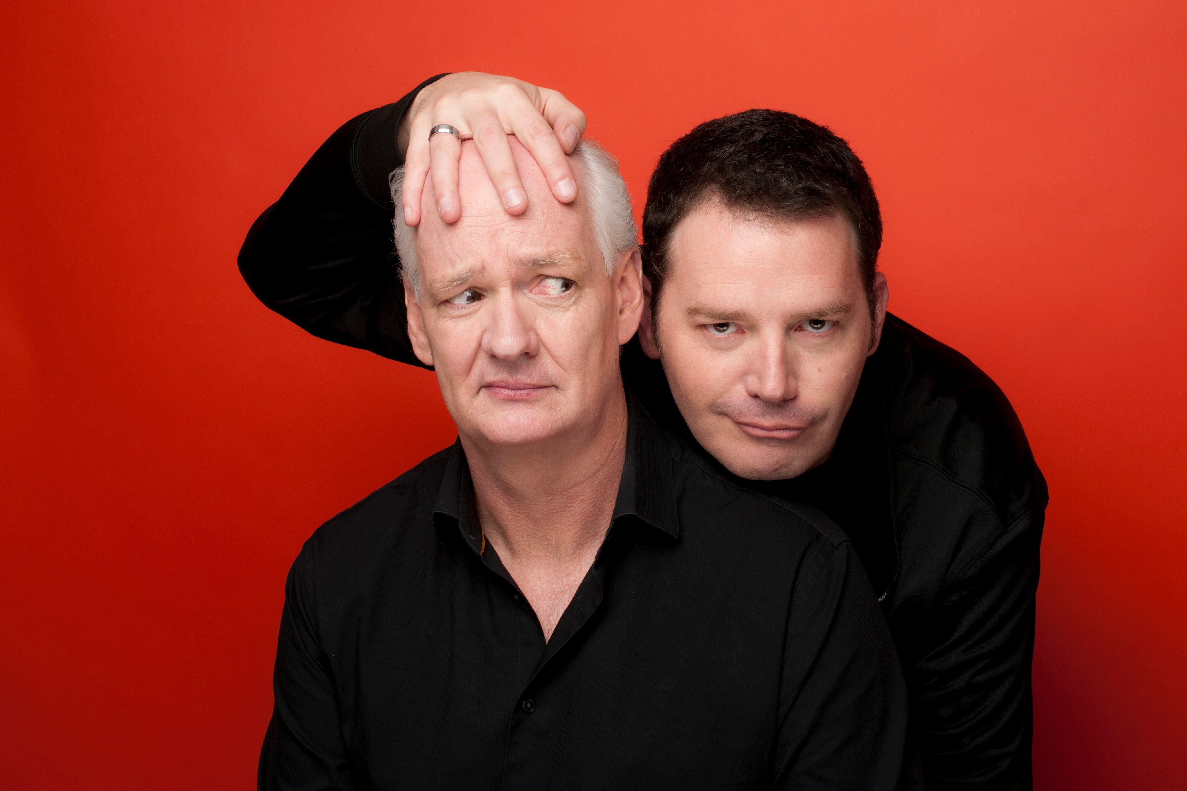 """Colin Mochrie (left) and Brad Sherwood bring their """"Scared Scriptless"""" show to the Pabst Theater Saturday."""