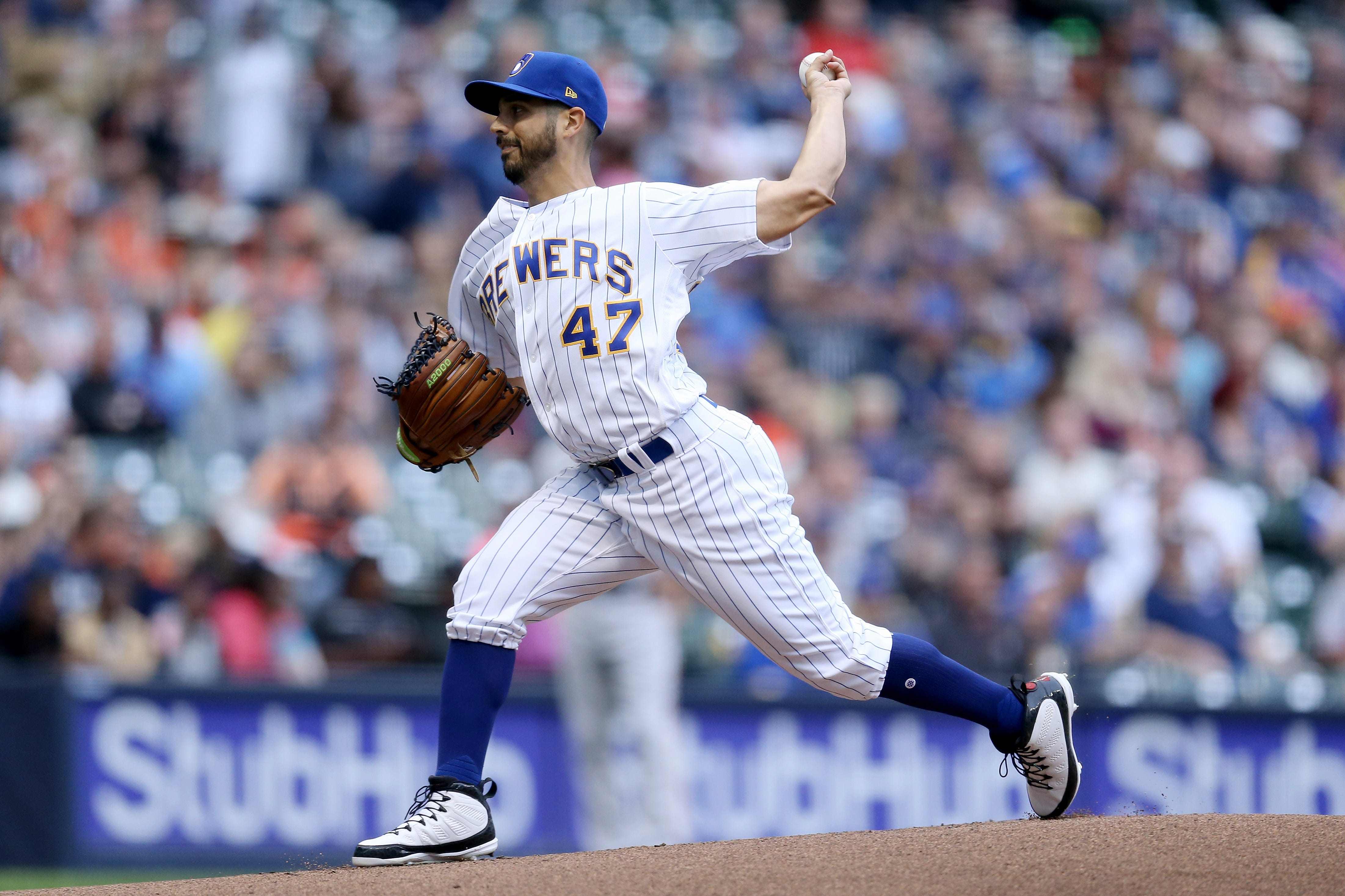 The Brewers traded for starter Gio Gonzalez on Aug. 31.