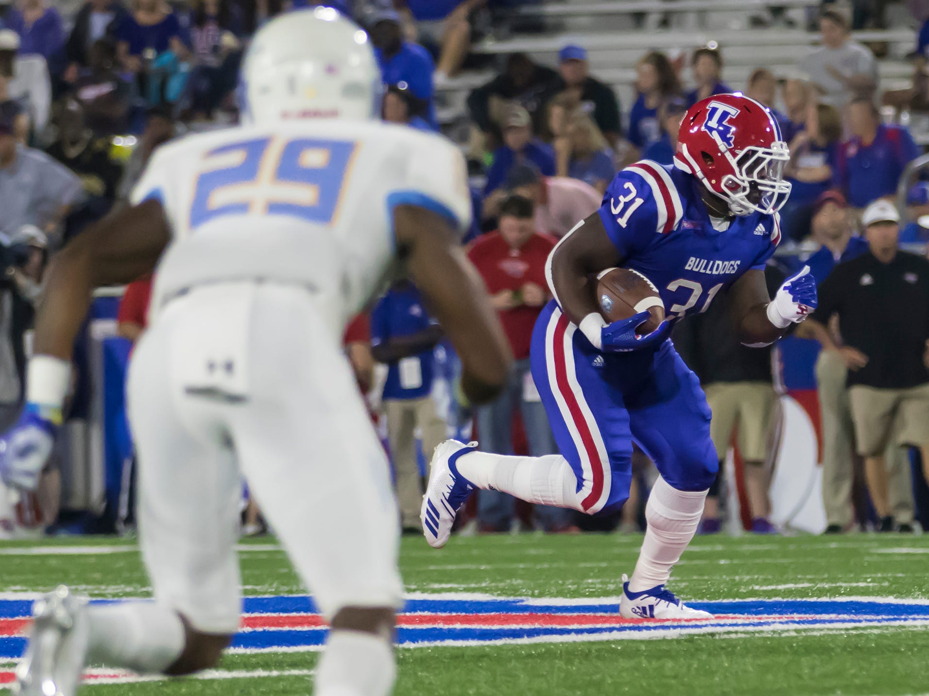 Louisiana Tech defeated Southern University in a 54-17 rout at Joe Aillet Stadium in Rustion, La. on Sept. 8