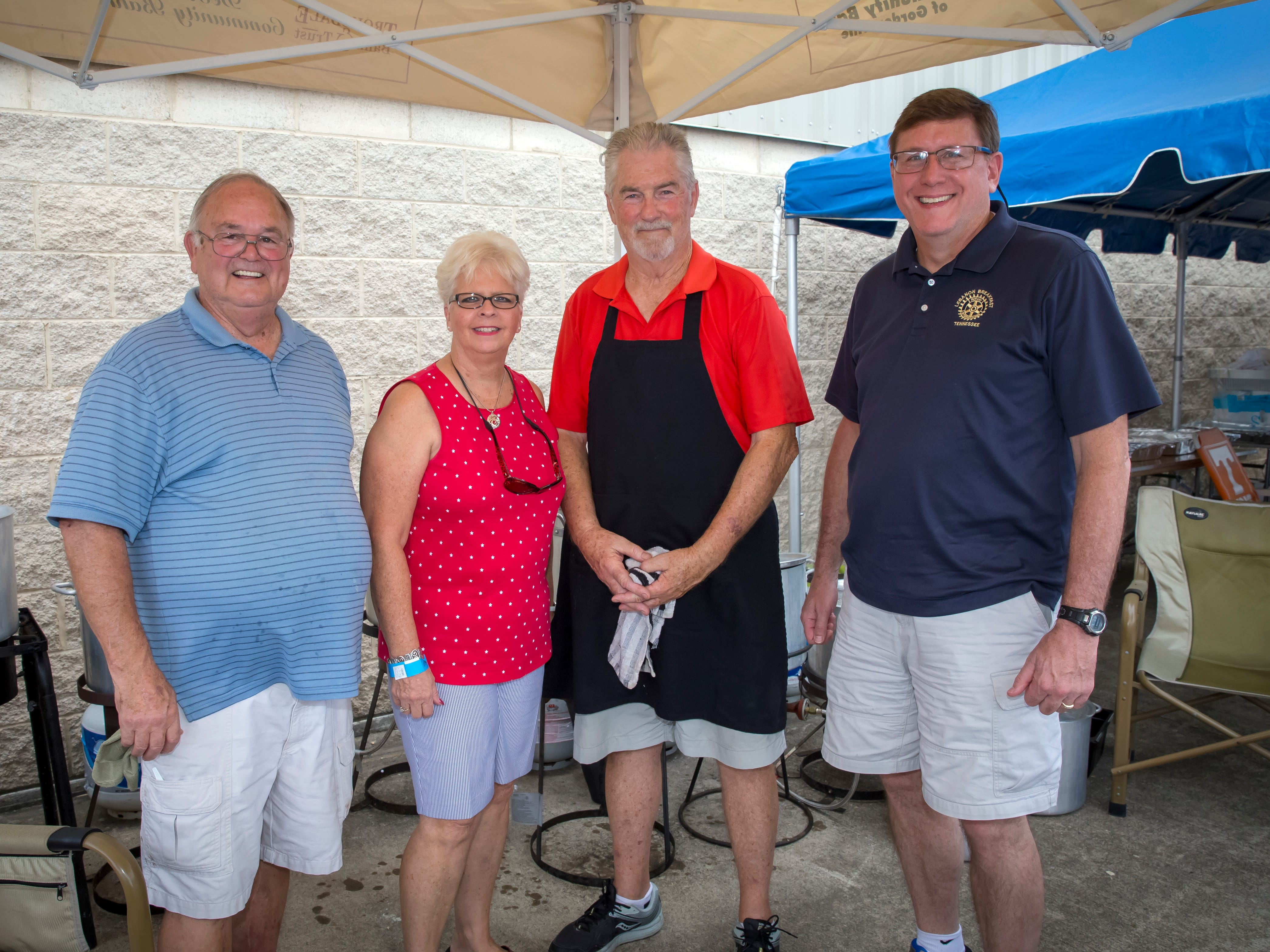 Ed Garner, Robbie Castleberry, Lowe McCrary and Paul Nawiseniak at the Wings of Freedom Fish Fry hosted by Smyrna Rotary Club. The event was held Saturday, Sept. 8, 2018 at the Corporate Flight Management Hangar at Smyrna Airport.