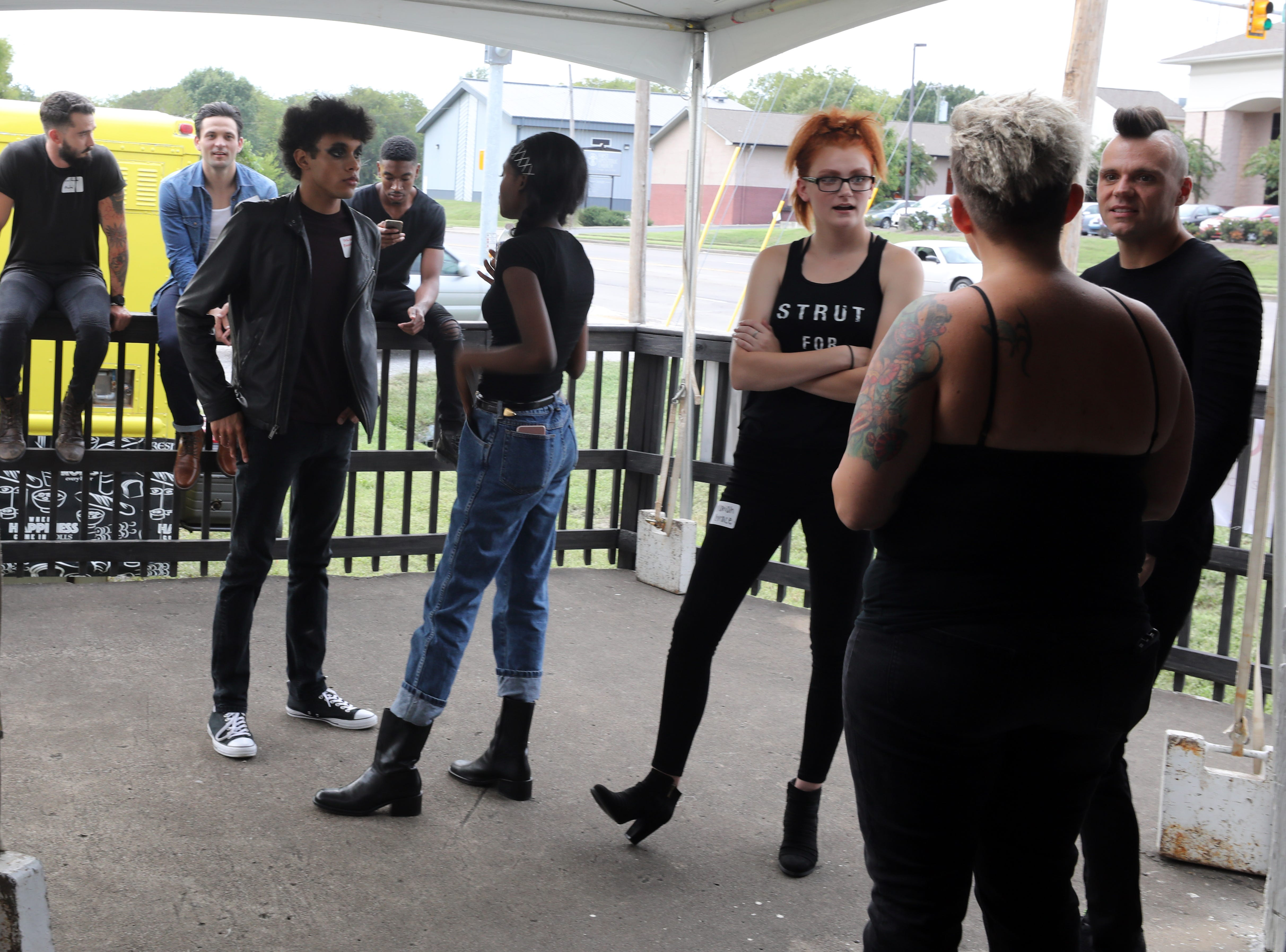 Models and staff hang out before the start of the Boundless 2018 fashion show held at Studio 615 on Saturday September 8, 2018.