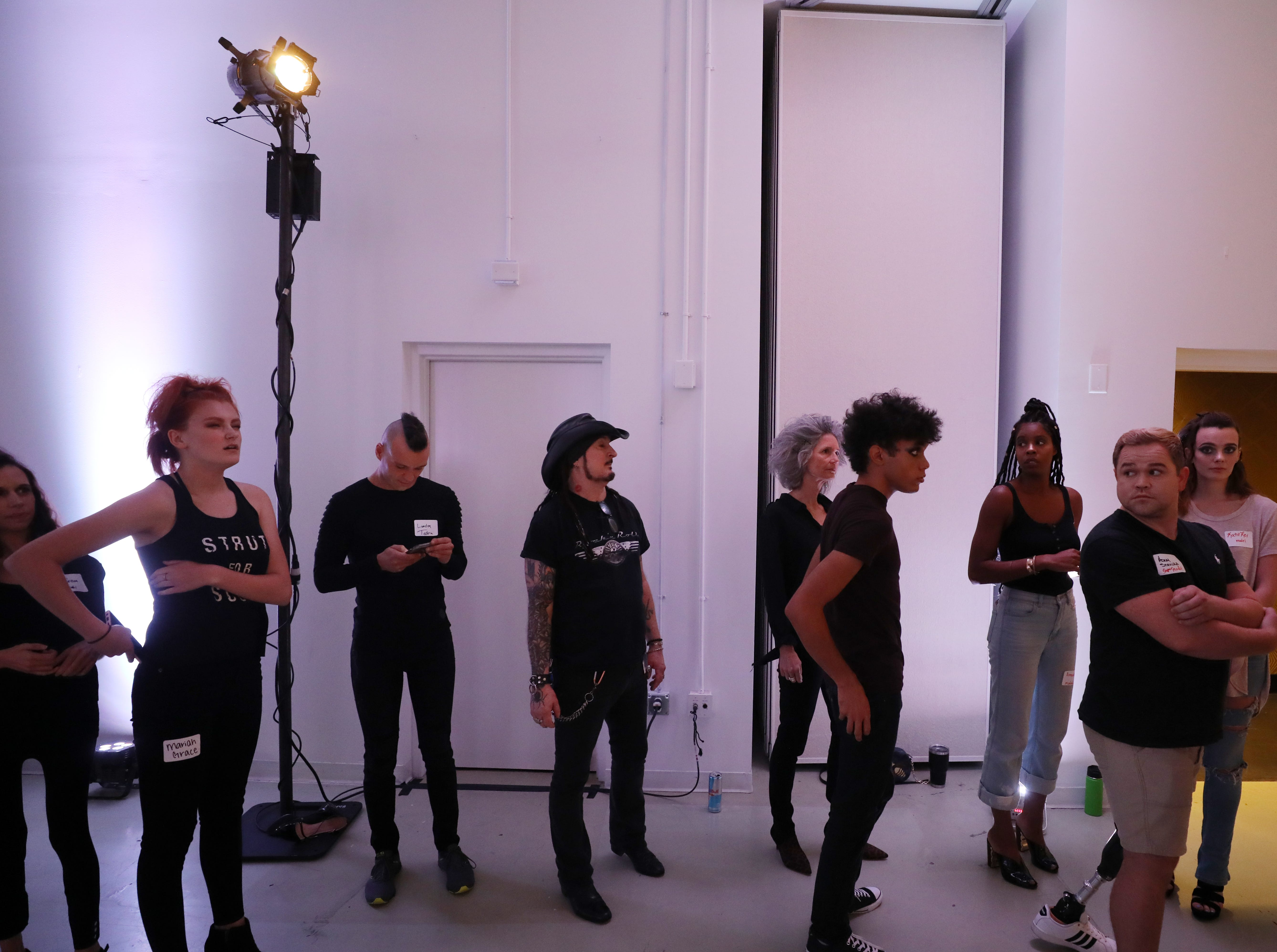 Models and staff prepare for the Boundless 2018 fashion show held at Studio 615 on Saturday September 8, 2018.
