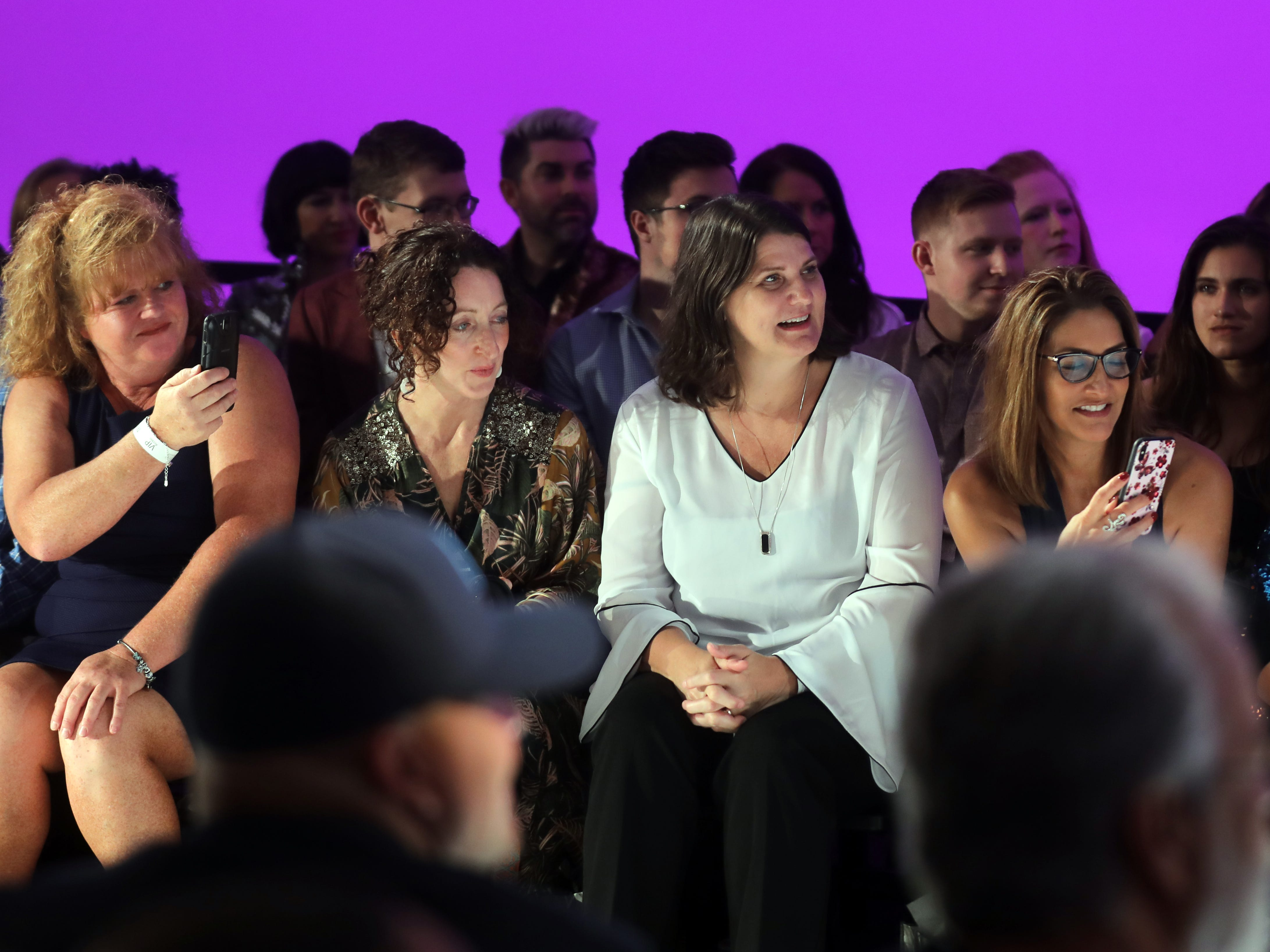Members of the audience watch during the Boundless 2018 fashion show held at Studio 615 on Saturday, September 8, 2018.