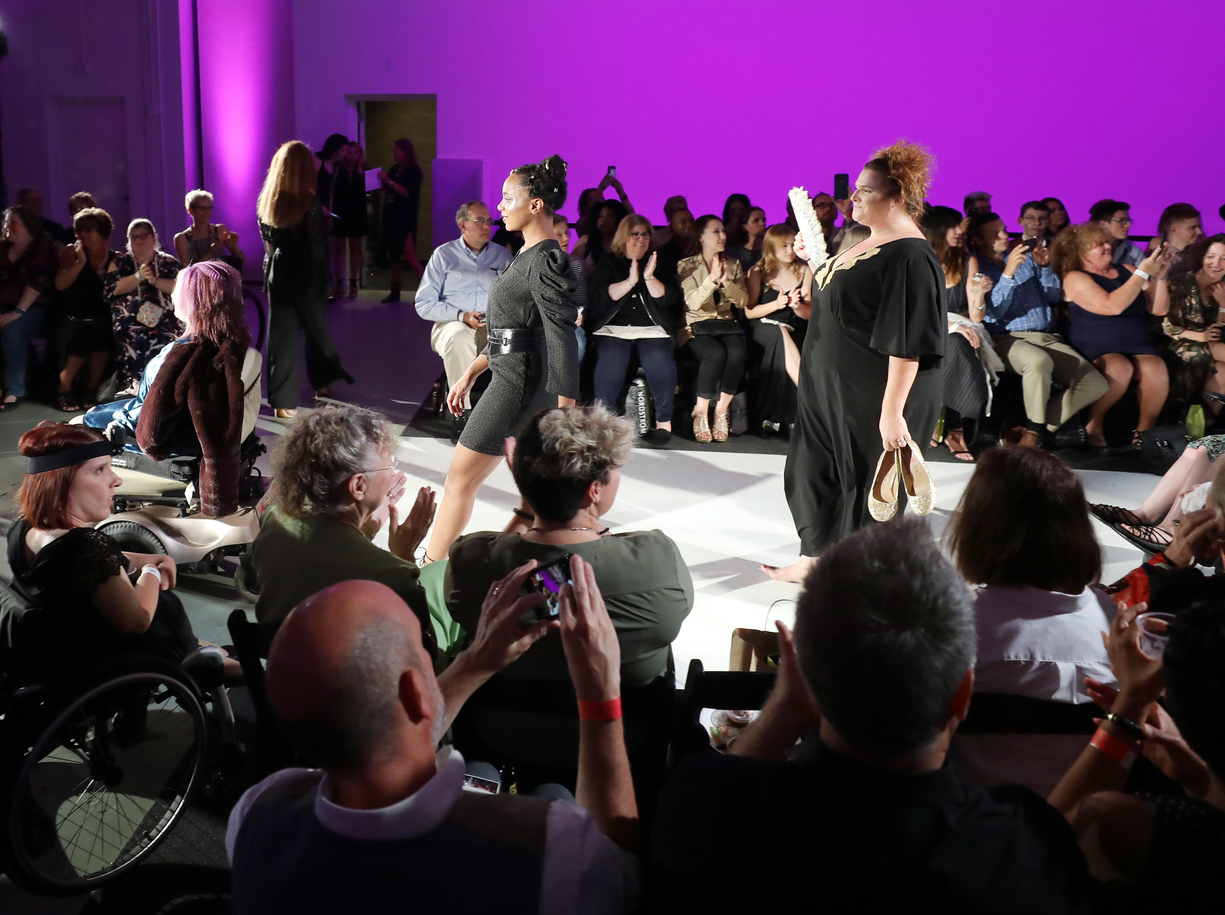 Models participate in the Boundless 2018 fashion show held at Studio 615 on Saturday, September 8, 2018.