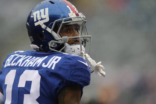 Odell Beckham Jr. is shown before the Giants  take on the Jaguars in East Rutherford during Week 1 of the NFL season. Sunday, September 9, 2018