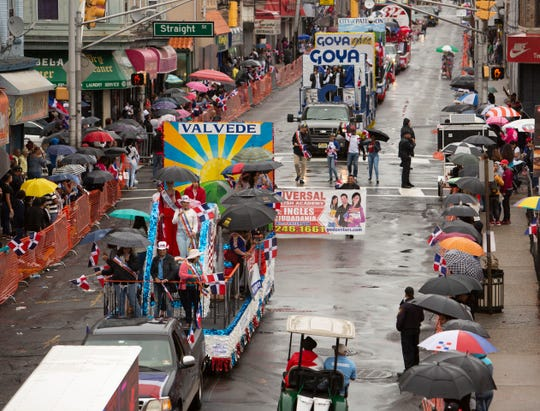 A view up Park Ave. during the Dominican Parade in Paterson on Sunday, September 9 2018.