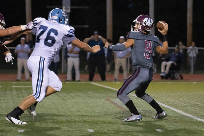 Wayne Hills quarterback Tom Sharkey completed 15 of 31 passes for 175 yards and a touchdown.