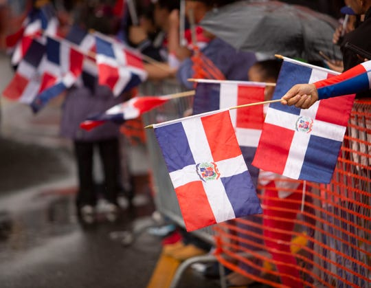 Dominican Flags were ever present during the Dominican Parade in Paterson on Sunday, September 9 2018.