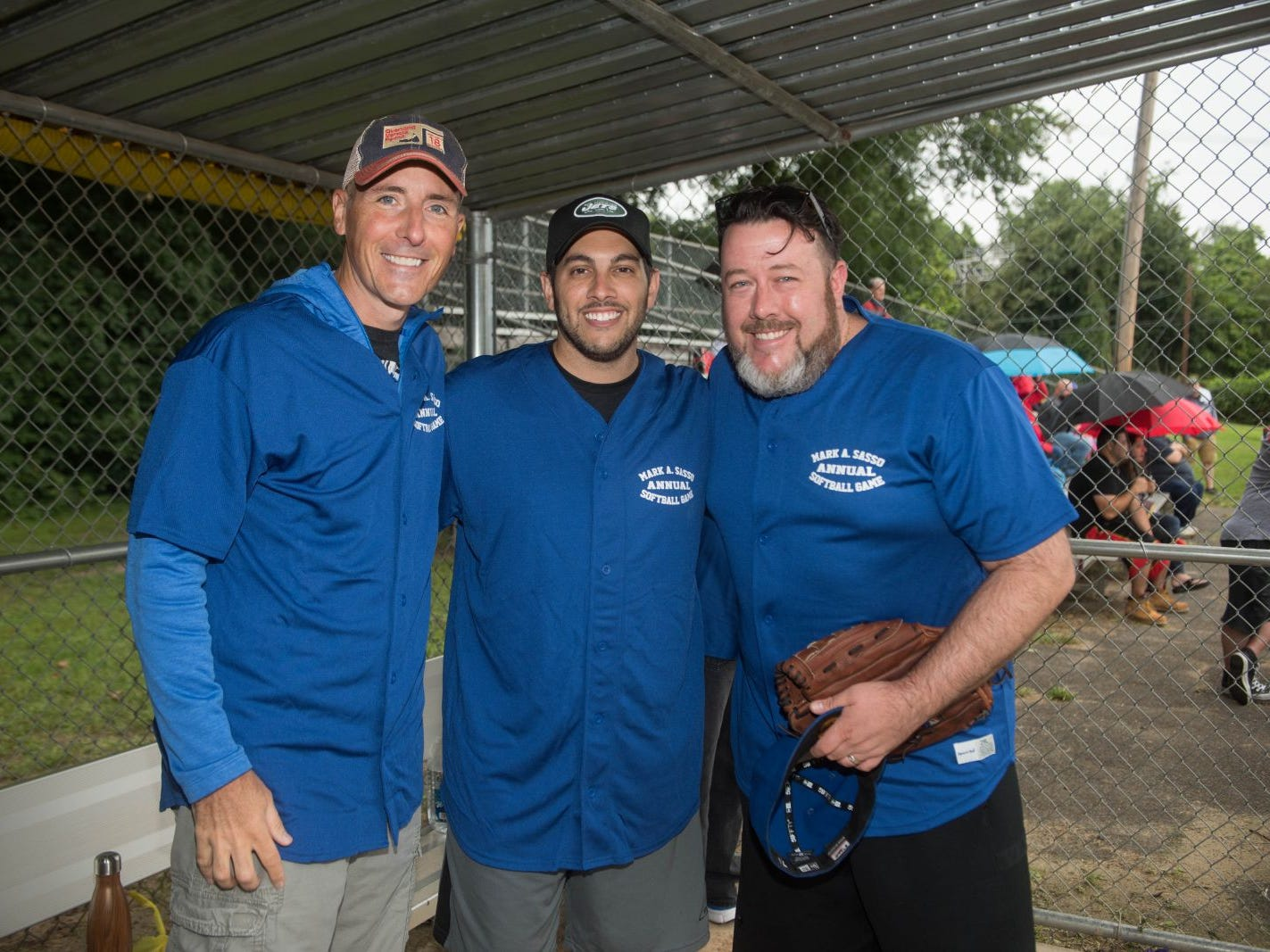 Gordon Damer, Dan Graca and Ryan Hurley. Mark A. Sasso Memorial Fund hosted its 10th annual Softball Fundraiser this past Saturday at Wagaraw Baseball Field in Hawthorne. Don La Greca was joined by many of his fellow ESPN personalities and celebrity guests to play against the winning ALRC team from the round robin tournament that took place throughout the day. 09/08/2018