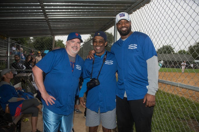 Don La Greca, Bill Daughtry and Chris Canty. Mark A. Sasso Memorial Fund hosted its 10th annual Softball Fundraiser this past Saturday at Wagaraw Baseball Field in Hawthorne. Don La Greca was joined by many of his fellow ESPN personalities and celebrity guests to play against the winning ALRC team from the round robin tournament that took place throughout the day. 09/08/2018