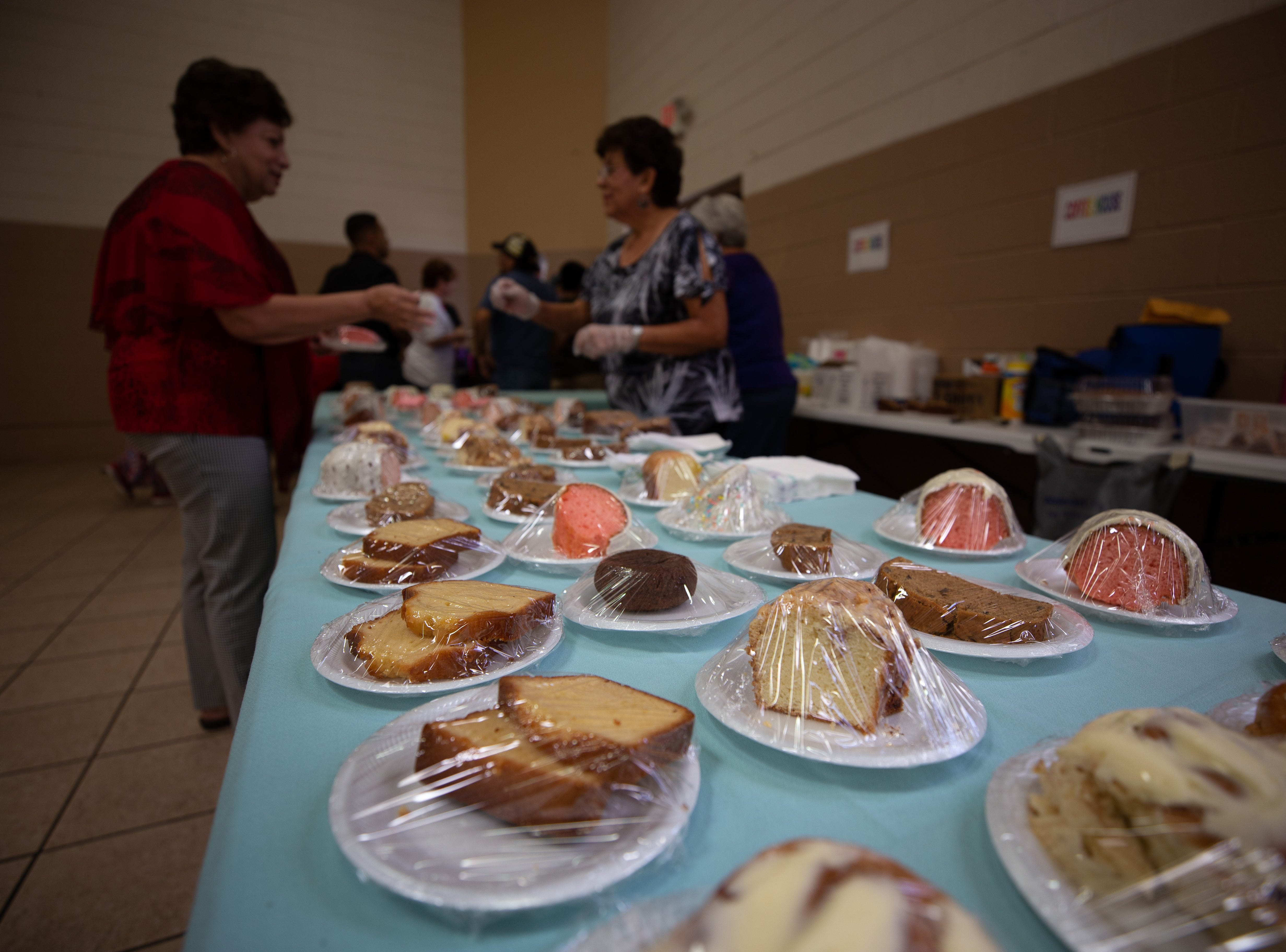 Baked goods line a table ready to be bought at the St. Genevieve Fiesta on Saturday, Sept. 8, 2018.